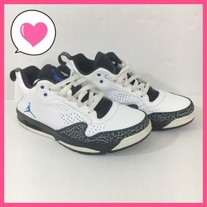 Nike Jordan 487002-103 10.5 white black gray blue